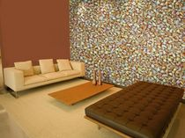 non-woven polyester wallpaper: nature pattern SHORELINE TRAIL Mushaboom Design