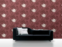 non-woven wallpaper: floral pattern SAGA: 2434 Decor Maison