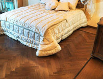 oak engineered wood floor CHEVRON L'ARTE NEL PARQUET DI LATTANZIO G.