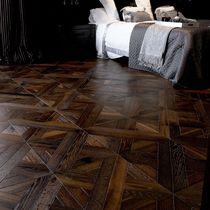 Oak parquet floor tile / solid