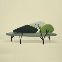 organic design upholstered bench BORGHESE by No&eacute; Duchaufour Lawrance LA CHANCE