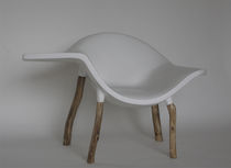 original design armchair (interior/exterior) WHITE DRINK binome