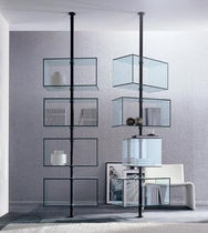 original design glass and metal shelf DOMINO by T. Colzani Porada