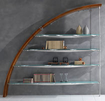original design glass and wood shelf AURORA LA CITTA'