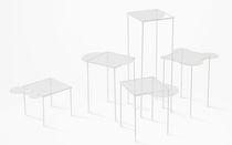 original design glass coffee table OVERFLOW by Nendo LASVIT
