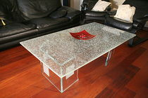 original design glass coffee table CLASSICA Miroiterie RIGHETTI