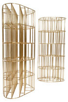 original design metal bookcase CAGE by Vincenzo De Cotiis CECCOTTI COLLEZIONI