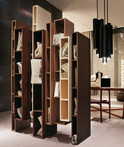 original design modular wooden bookcase SKYLINE by Vincenzo De Cotiis CECCOTTI COLLEZIONI