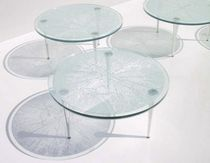 original design round glass table B-GLASS B.lab Italia