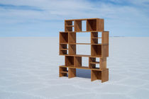 original design wooden modular shelf HU by Paolo Cogliati TOTEM