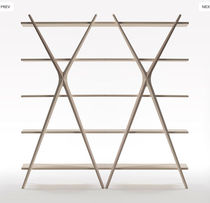 original design wooden shelf CROSS by Carlo Contin Meritalia