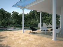 outdoor ceramic floor tile (stone look) FLAG : GOLD CASTELVETRO