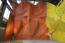 outdoor fixed climbing wall GRP UNIQUE TRIANGLES Walltopia