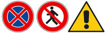 outdoor safety signage  RIB