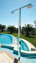 outdoor stainless steel shower IDRA: Q8.6/2 Fontealta