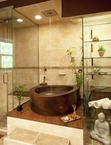 oval copper bath-tub (custom made) JAPANESE Diamond Spas