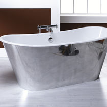 oval enameled cast iron bath-tub IRIS  BLEU PROVENCE