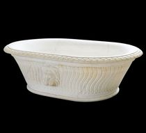 oval handcrafted marble bath-tub SOLID CARRARA Lapicida