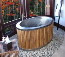 oval stainless steel bath-tub BAMBOO ELLIPSE Diamond Spas