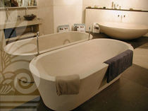 oval two seater stone bath-tub DUO : LIMESTONE LimeStone Gallery