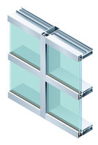 "panel curtain wall (metal and glass) 2-1/2"" x 6-1/2"" Oldcastle BuildingEnvelope"