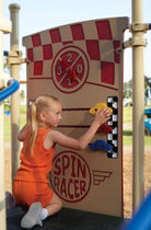 panel for fun activities SPIN RACER  BYO Playground, Inc.