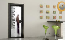patterned glass pane swing door ETNO Giannattasio porte e finestre