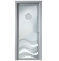 patterned glass pane swing door FUOCO CRISTAL