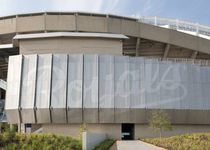 perforated metal sheet facade cladding KAUFFMAN STADIUM Zahner