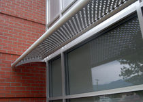 perforated metal solar shading PERFORATED SUNSHADES doralco