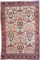 persian floral patterned rug in wool BIDJAR  Warp & Weft