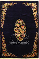 persian floral patterned rug in wool KASHAN OLD  bersanetti giovanni