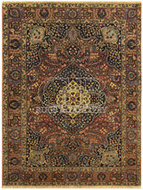 persian floral patterned rug in wool (Tabriz, handmade) ANTIQUE TABRIZ bersanetti giovanni