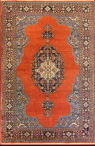 persian geometric patterned rug in wool (Ardebil, handmade) OLD ARDEBIL  bersanetti giovanni