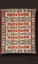 persian kilim rug in wool AL08046 TRIFF