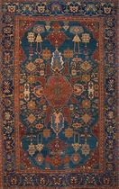 persian motif rug in wool (handmade) TRADITIONAL  Torana Carpets
