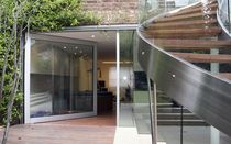 pivot door with offset axis  Cantifix Architectural Glazing