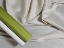 plain silk fabric VERDE CHIARO AND BLEACHED SILVER  DE GOURNAY
