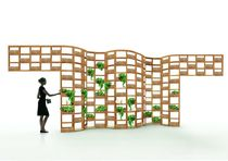 planter with trellise GREEN WALL by Atsushi Koike Deesawat Industries
