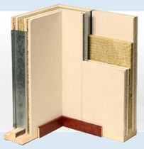 plasterboard rigid acoustic fire-retardant insulation panel (for walls) IW100 Faay Wall and Ceiling Systems 