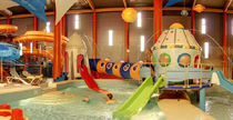 play structure for indoor aquatic-parks SPACESHIP POL -GLASS