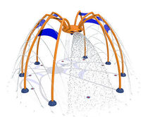 play structure for outdoor aquatic-parks SPIDER Vortex Aquatic Structures International