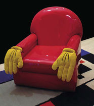 pop art design armchair CARTOON by Andrea Rauch MIRABILI Arte d'Abitare
