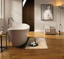 porcelain stoneware floor tile: wood look WOODWAY : IMBUIA ABK