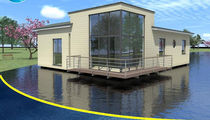 prefab ecological floating house LA MANGROVE BATIFLO