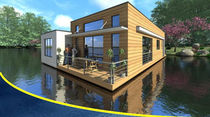 prefab ecological floating house LA NYMHÉA BATIFLO