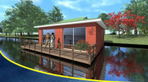 prefab ecological floating house LE CANADIEN BATIFLO