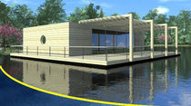 prefab ecological floating house LA LOBELIA BATIFLO