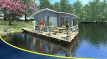 prefab ecological floating house ARLEQUIN BATIFLO