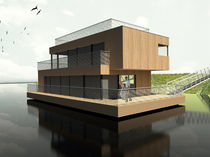 prefab ecological floating house FH 166 MANDL
